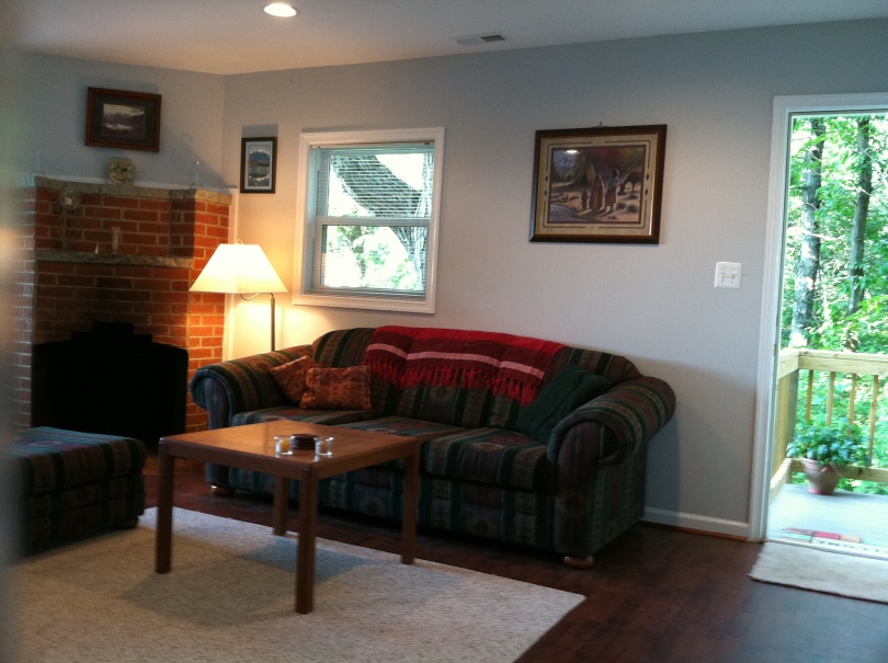 Image of Living Room with Fireplace