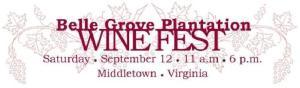 Belle Grove Wine fest