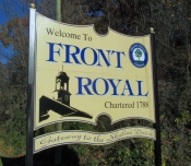 Welcome to Front Royal sign